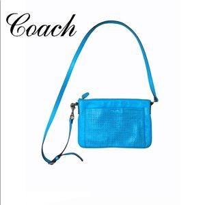 Coach Chalk Legacy Perforated Crossbody Bag